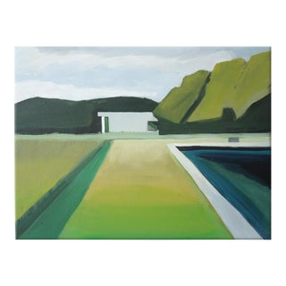 Landscape Poolside Abstract Painting