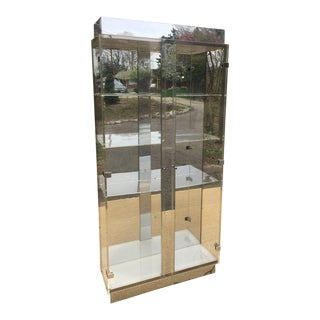 Lucite Curio Display Cabinet