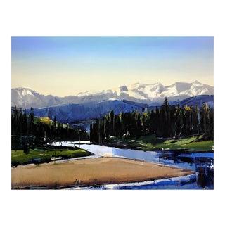 """David Shingler """"Snake River Glow. Wyoming"""" Painting"""