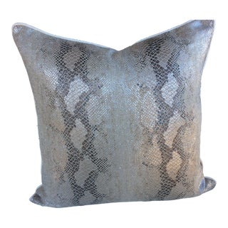 "Kelly Wearstler ""Serpent"" Python Pillow"