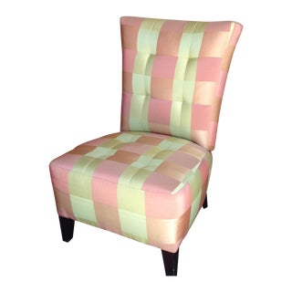 Eric Brand Gracie Slipper Chair in Donghia Fabric