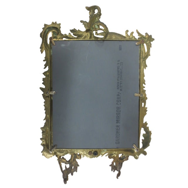 Brass & Mirror Double Candle Wall Sconce Chairish