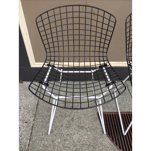 Harry Bertoia for Knoll Wire Chairs - Set of 6 - Image 4 of 8