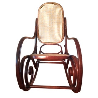 Authentic Thonet Two-Tone Bentwood Rocker