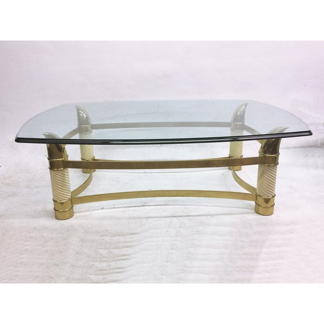 Hollywood Regency Coffee Table by Weiman - Image 2 of 7