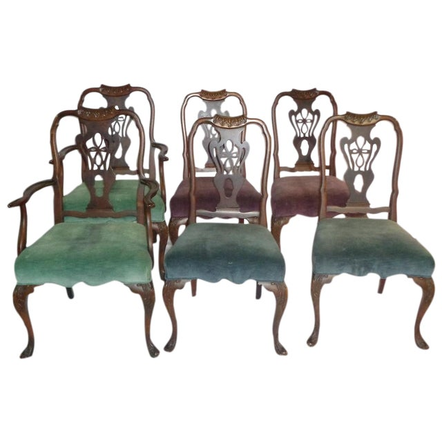 Batesville Mahogany Dining Chairs- Set of 6 - Image 1 of 11