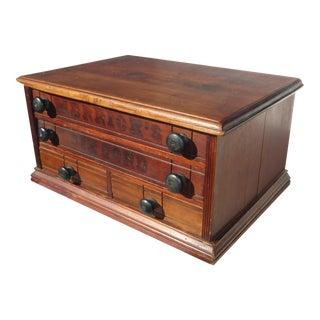 Antique Merrick's Six Cord Thread Box Cabinet