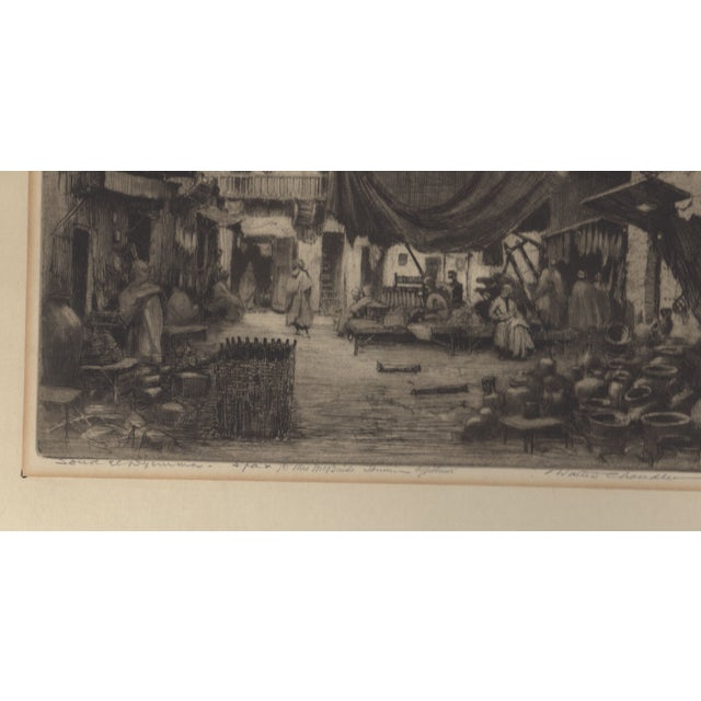 Image of 1930's Etching by Walter Chandler