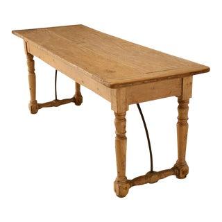 Circa 1820 Original Irish Pine Work Table
