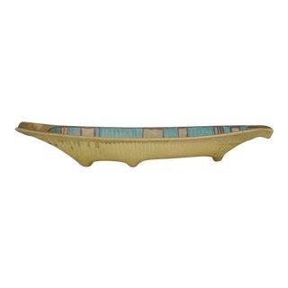 Fong Chow for Glidden Mesa Green Glaze Ceramic Boat