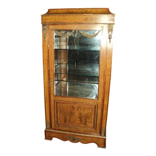 Antique French Kingwood Display Cabinet
