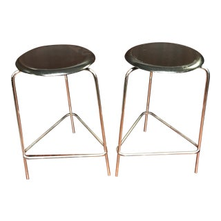 Fritz Hansen Danish Bar Stools - A Pair