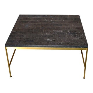 Paul McCobb Square Brass Frame Cocktail Table