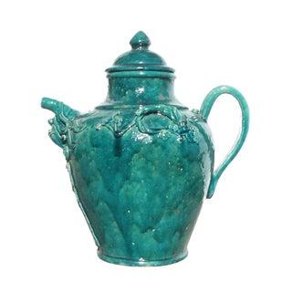 Chinese Ceramic Green Glaze Wine Container Jar