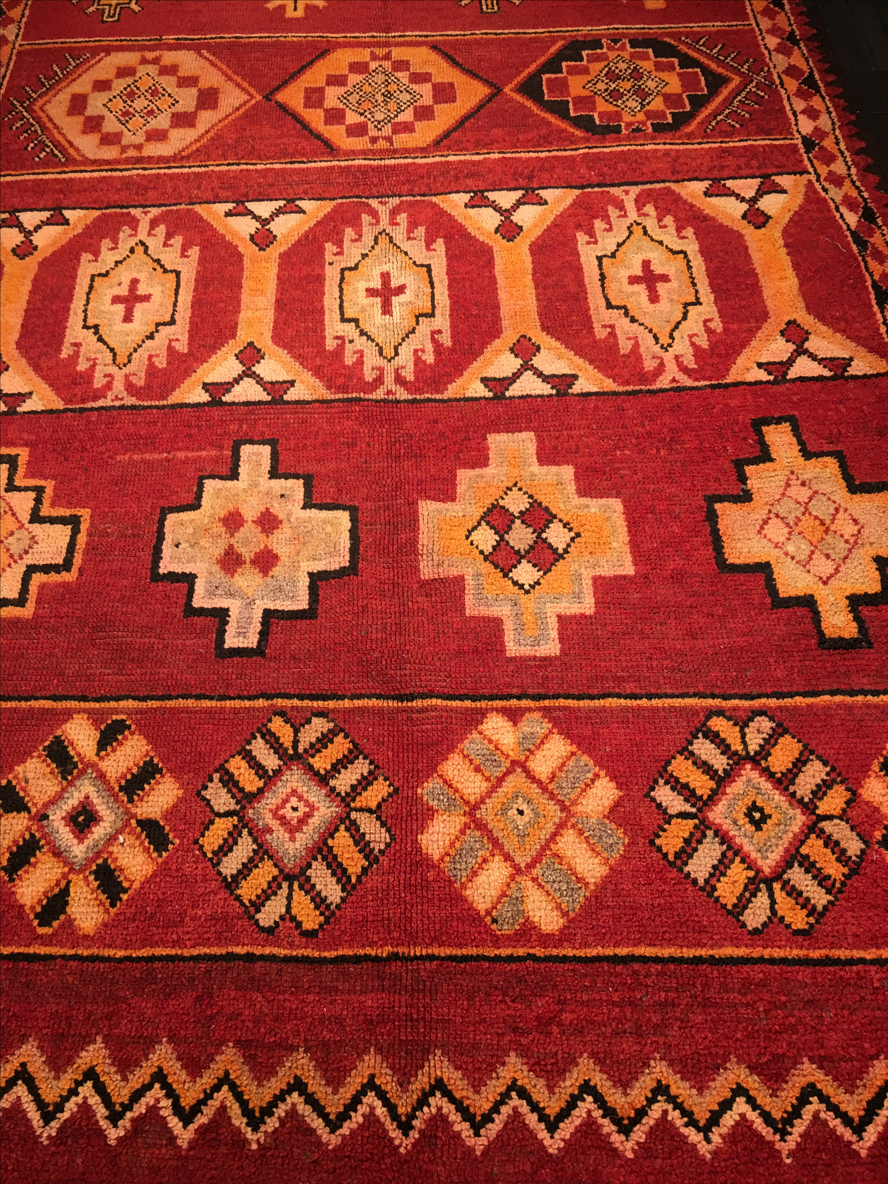 1950 hair styles 1950s moroccan rug 6 215 10 5 chairish 2300