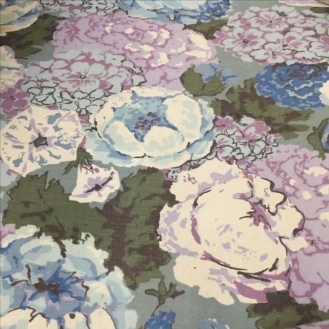 Large Peonies Upholstered Chairs - A Pair - Image 8 of 10