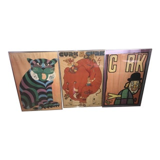 "Original Vintage ""CYRK"" Polish Circus Posters - Set of 3"