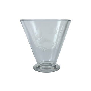 Butterfly Etched Glass Vase