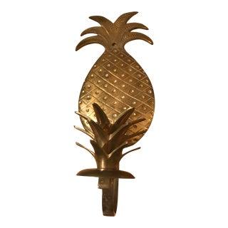 Mid-Century Modern Brass Pineapple Sconce