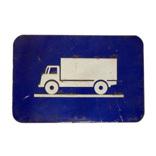 French Metal Truck Route Sign