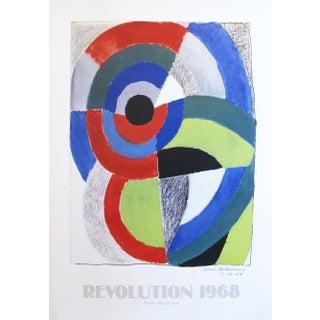 1968 Sonia Delaunay Exhibition Poster, Revolution