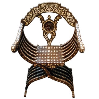 19th Century Syrian Inlaid Chair