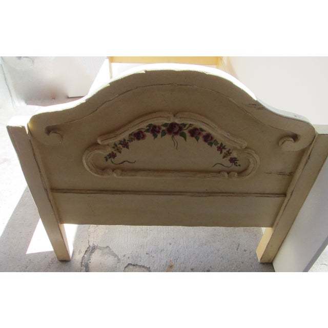 Antique Twin Cream Shabby Chic Wooden Bedframe - Image 4 of 11