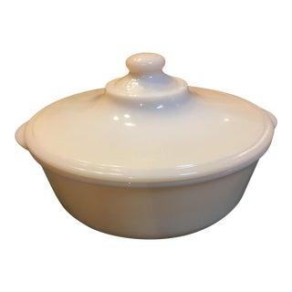 Mid-Century Fire King Milk Glass Casserole Dish