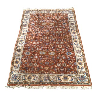 Hand-Knotted City Floral Rug - 3' x 6'