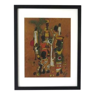 Vintage African Framed Batik