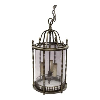 Brass & Glass Cylinder Shaped Lantern