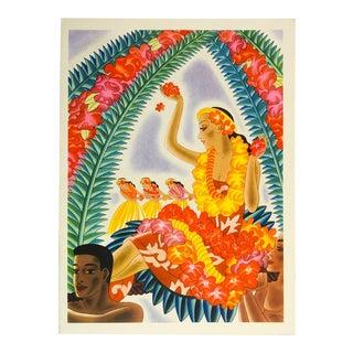 1941 Graphic & Vibrant Hawaiian Print Menu