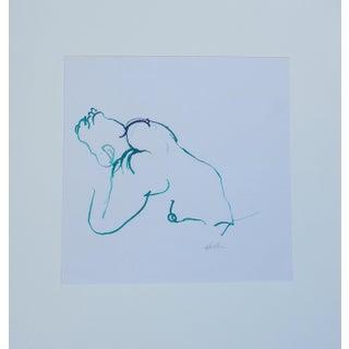 """French Model Kneeling"" by Martha Holden"