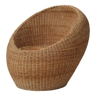 Rattan Lounge Chair by Isamu Kenmochi