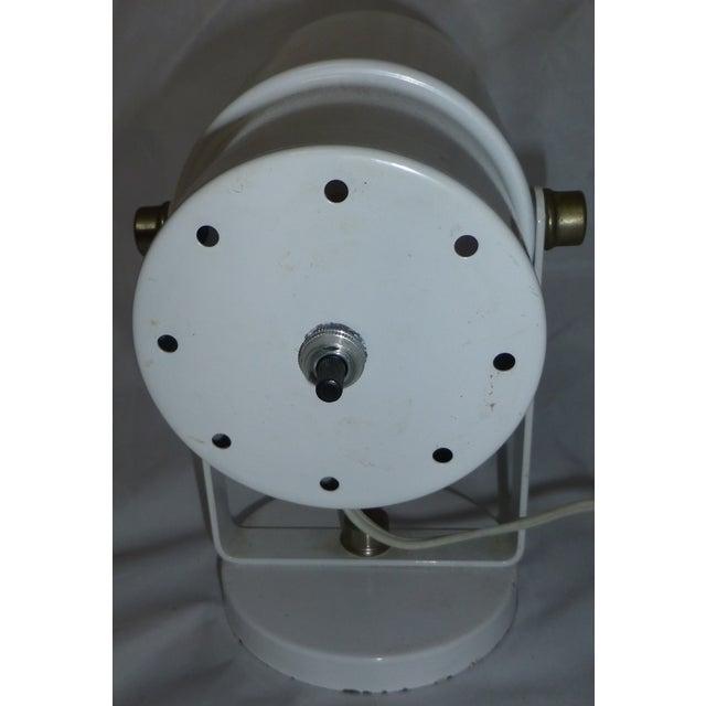 Image of Vintage 1960s White Spotlight Lamp