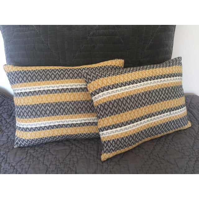West Elm Silk Jacquard Hand-Woven Pillows - A Pair - Image 6 of 11