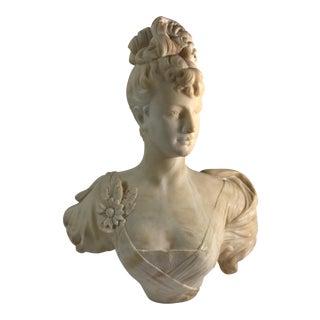 Victorian Alabaster Women Bust