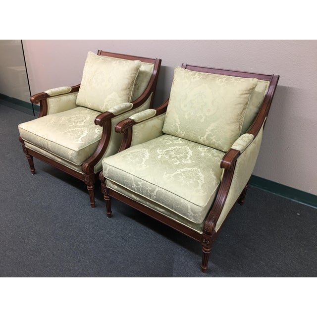 Ethan Allen Fairfax Arm Chairs - A Pair - Image 3 of 11