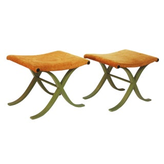 Pair of X-Form Stools by Plycraft, Inc.