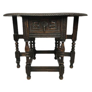 Small English Drop Leaf Side Table