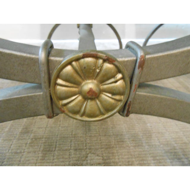 Regency Directoire X Base Iron Consoles - A Pair - Image 4 of 9