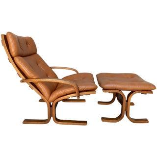 Westnofa Siesta Chair & Ottoman in Cognac