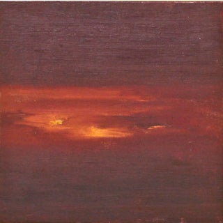 Orange Sunset Abstract Oil Painting