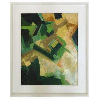 Original Kinney Oil on Board in Multi-Color Abstract