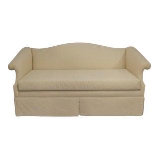 Vintage Linen Upholstered Loveseat