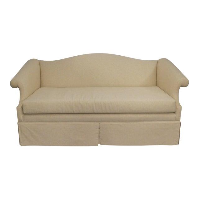 Vintage Linen Upholstered Loveseat - Image 1 of 4