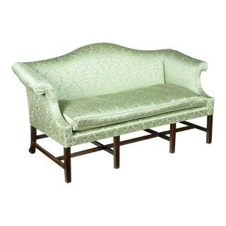 Chippendale Mahogany Camelback Sofa