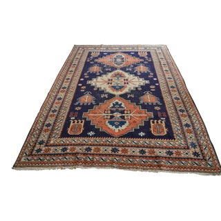 """Distressed Antique Persian Tribal Rug - 6'5"""" X 9'6"""""""