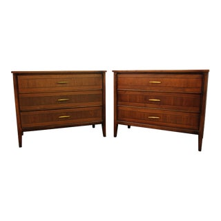 Mid-Century Walnut Bachelor Chests - A Pair