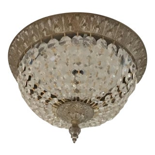 Flush Antique Fixture With Crystals
